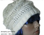 Pattern of knitted and crochet hat