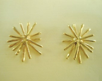14 Karat Gold Burst Earrings