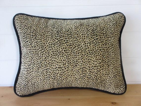 Animal Print Lumbar Pillows : Leopard Print Pillow Cover Lumbar Pillow by ComfortsofHomeDecor