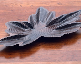 Burnt Maple Leaf Shaped Bowl