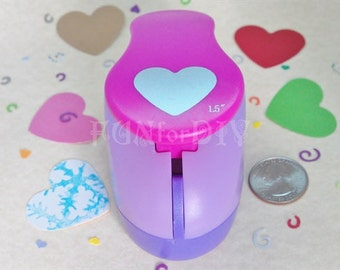 37x30mm extra large size lever type paper punch -- heart