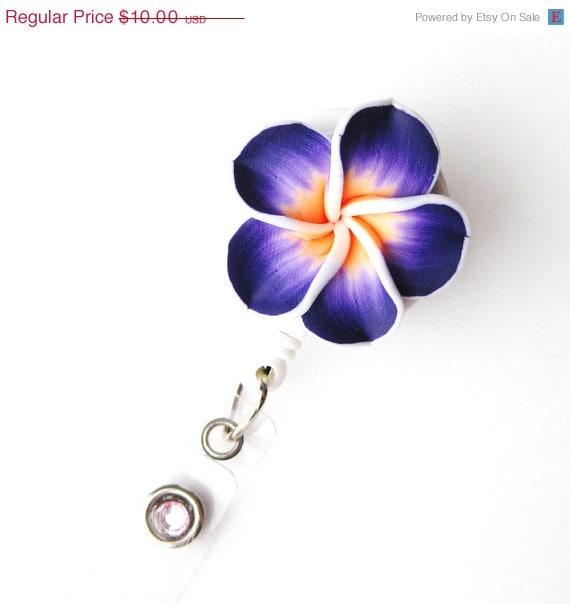 Tropical Flower - Fancy ID Badge Reels - Unique Name Badge - Designer Badge Holder - Nurse Gifts - Pretty ID Badge Clips - BadgeBlooms