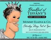 breakfast at tiffany's invitation invite TIFFANY AND CO. Posh Baby Shower or 1st birthday party