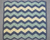 RESERVED LISTING - Rainbow Chevron Crochet Blanket