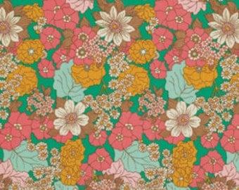Joel Dewberry Fabric - 1 Fat Quarter Bungalow -  Dainty Daisies in Emerald / Free Spirit Fabric