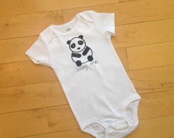 "Infant ""Panda"" onesie/creeper/bodysuit"