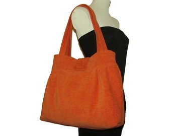 123- bag, purse,color orange, handmade