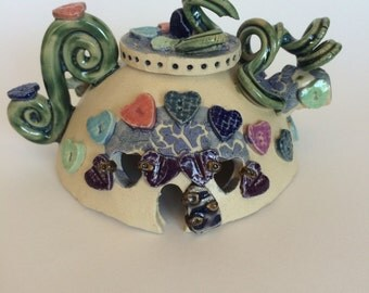 Lady Twining's Teapot Fairy House Nightlight