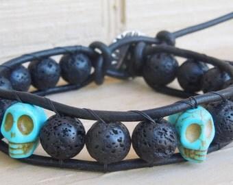 Skull Essence Wrap Bracelet