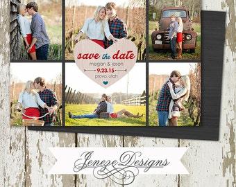 Custom Photo Save the Date Card