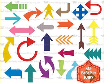 Arrow Symbols Clipart Set 1 ---- Personal and Small Commercial Use ---- BB 0747