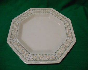 """Two (2), 10"""" Dinner Plates, from Johnson Bros., in the Chequers Pattern, Circa 1983."""