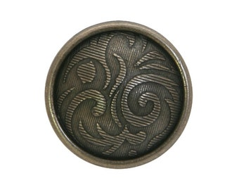 3 Caribou 11/16 inch ( 17 mm ) Metal Buttons Bronze Color