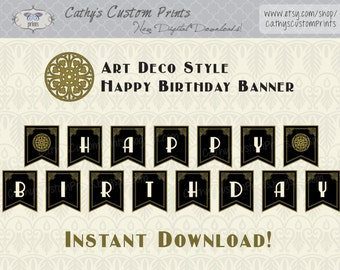 1920's Happy Birthday Printable Banner