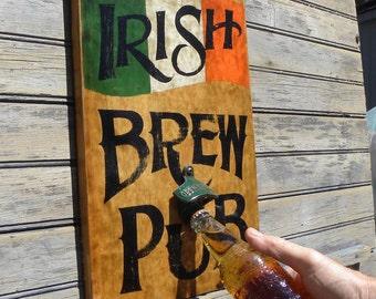 Irish Brew Pub style Sign ,hand painted,original art ZB IR 1