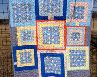 Wind Up Fish Baby Quilt