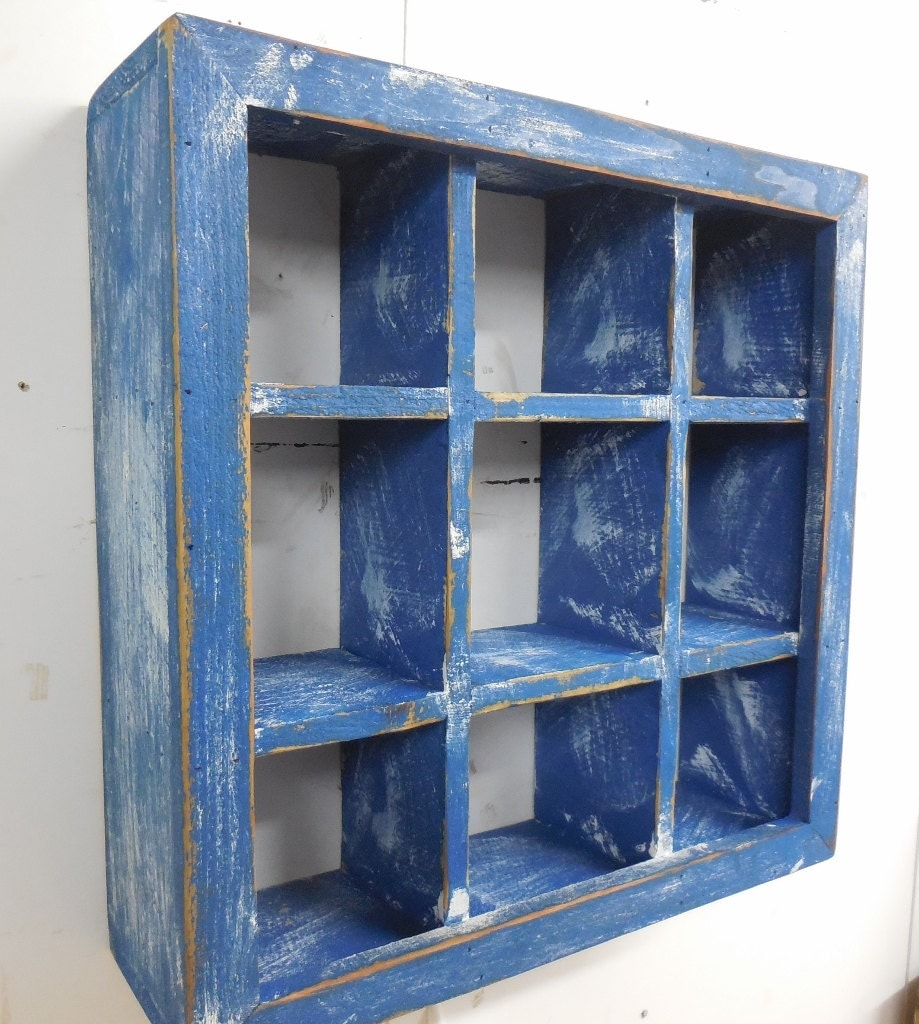 Bathroom Cubby Shelf: Cubby Wall Shelfapothecary Shelfnautical Wall Shelf