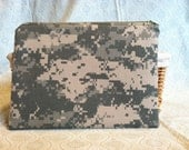 Custom Order for Kris US Army ACU  Zipper Bag, Zipper Pouch,  Makeup Bag, Pencil Pouch