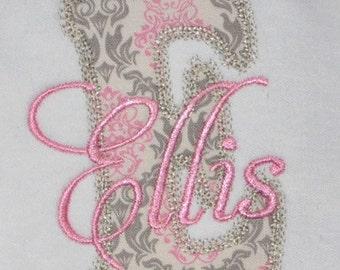 Decorative Embroidery Applique Font - INSTANT DOWNLOAD