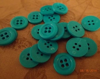 Lot of Blue Colored Plastic Buttons/14mm/Sewing/Crafts/PJsBeadedEagle
