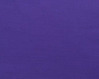 60 Inch Poly Cotton Broadcloth Purple Fabric by the yard - 1 Yard