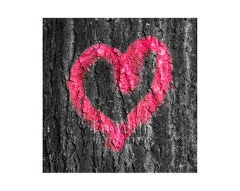Heart Graffiti Photo, Romance, France, Lovers, Valentine's Day, Anniversary, I Love You, Red Heart