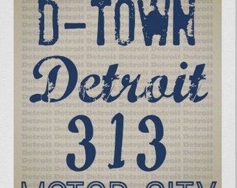 Detroit Nicknames Print, Art for Office, Christmas Gifts, Birthday Gift, Detroit Expats, Gifts for Him, Gifts for Her, Michigan Gifts, DTW