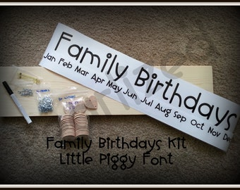 Customized - Family Birthday Board Kit - Easy to Complete Board - Never Forget Birthdays Again