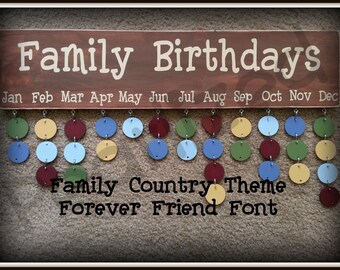 Family Birthday  Board - Country Theme