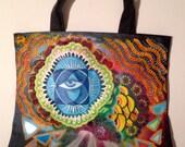 Hand Painted Custom Black Tote Bag