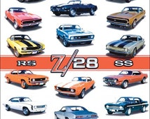 Chevolet Collectible Dealers Camaro Z-28 SS RS Models And Options Stand-Up Display - Collectors Items Prints And Posters Magazines kiss76