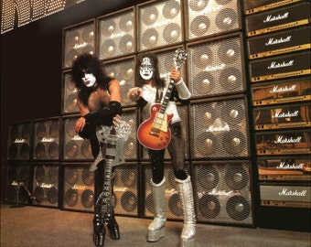 KISS Memorabilia - KISS Collectible Paul Stanley Ace Frehley Marshall Guitar Amps Stand-Up Display Concert KISS Army Fan Club Characters