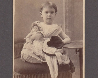 CDV of a Well Dressed Little Girl and Her Doll