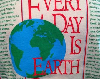 Earth Day screenprinted T shirt