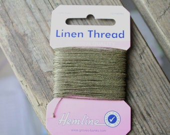Hemline Extra Strong Linen Thread, Sewing, Mending, Carpets, Upholstery, Tents, Shoes Buckles, 10m Beige