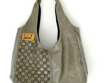 BAHA. Olive green leather bag / leather tote bag / leather shoulder bag / leather purse / leather bag. Available in different leather colors