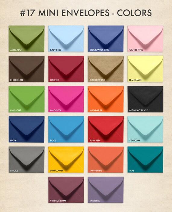 No.17 Mini Gift Card Envelopes 2 11/16 x 3 11/16 LUX