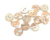 6 pcs 0.43~0.79 inch Natural 2 Hole Abalone Shell Buttons for Shirts Sweaters Coats