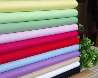 11 pieces Twill/Tabby Group Series Color collection Cotton Cloth Quilt Fabric-DIY Handmade Fabric Cloth