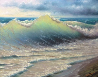 "197 - ""Stormy Surf"", 11""x 14""  Gallery Wrap Canvas Giclee print"