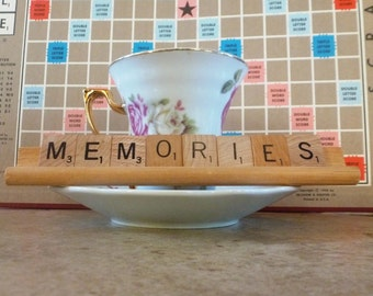 Memories Scrabble Sign or Nameplate Made to Order