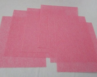 6 Sheets 3M Wet Or Dry Polishing Paper Pink 4000 Grit 8.5 by 11 Inches