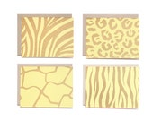 Assorted Animal Print Set - Yellow