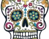 Sugar Skull Counted Cross Stitch Pattern Chart PDF Download by Stitching Addiction