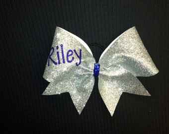 Glitter CheerBow with your name