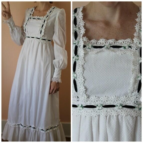 Summer in san francisco hippie boho maxi wedding vintage dress for Vintage wedding dresses san diego