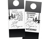 Wedding door hangers, do not disturb elegant black and white wedding hotel favors for guests, hotel welcome bag gifts custom