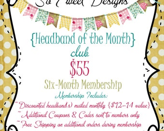 Headband of the Month Club - 6 month membership