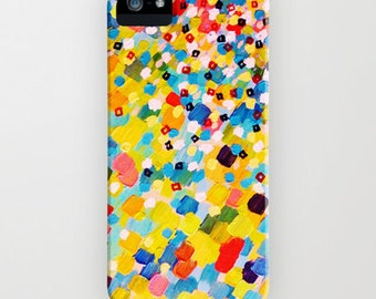 SWEPT AWAY 2 Rainbow Ocean Splash iPhone 4 5 5C SE 6 6s 7 Plus Case Samsung Galaxy Cover Colorful Abstract Acrylic Painting Sea Art Waves