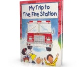 SALE CLEARANCE Fire Safety educational Fire Station personalized story book fire truck firefighter chief fire prevention week
